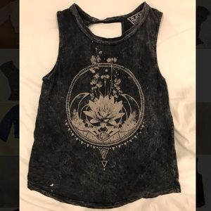 Urban Outfitters | Grey Graphic Tank Open-Back